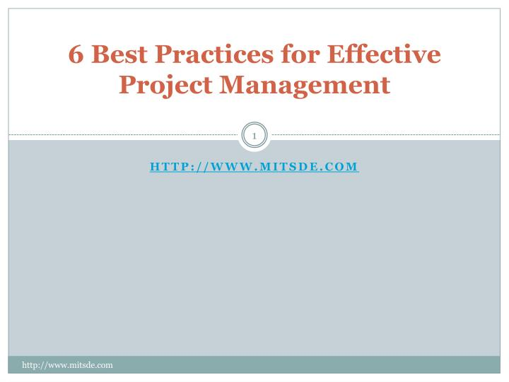 6 best practices for effective project management n.