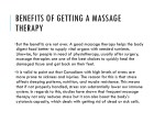 benefits of getting a massage therapy 1