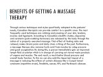 benefits of getting a massage therapy