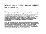the most famous types of massage therapies among 1
