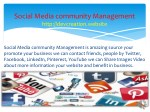 social media community management http