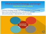 what is content strategy and design http