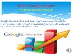 what is google analytics http devcreation website