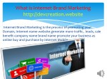 what is internet brand marketing http devcreation