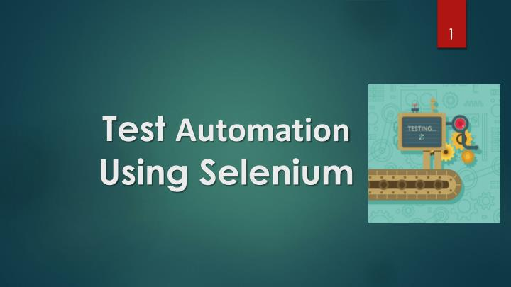 test automation using selenium n.