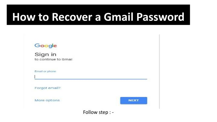 how to recover a gmail password n.