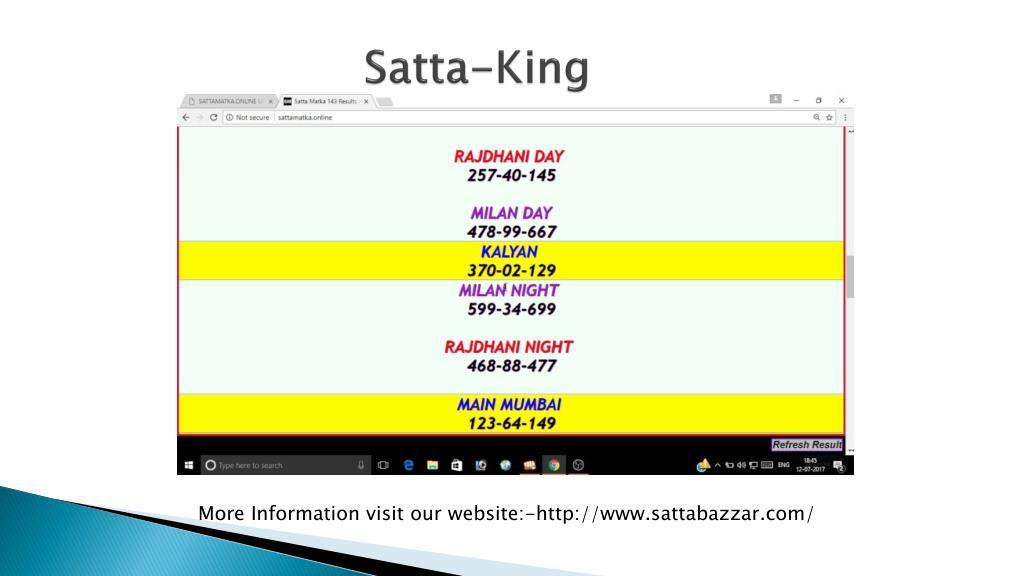 PPT - SATTA BAZAR PowerPoint Presentation - ID:7804702