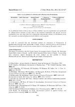 rajnish kumar et al table 2 assay and recovery
