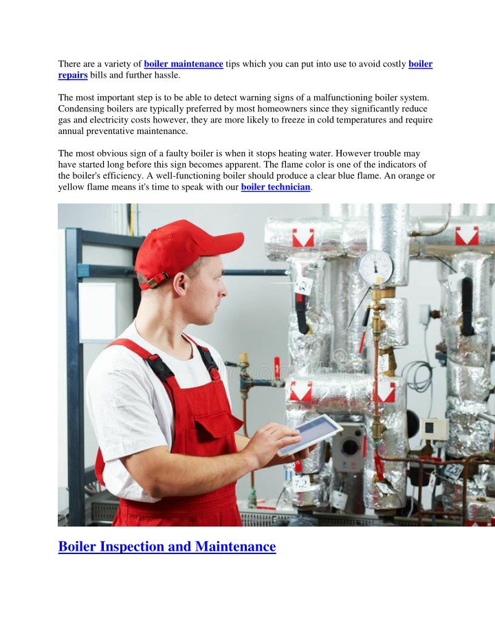 there are a variety of boiler maintenance tips n.
