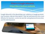what is google adwords http devcreation website