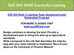 sus 300 rank successful learning 3