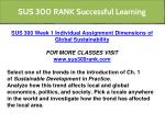 sus 300 rank successful learning