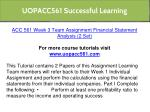 uopacc561 successful learning 11