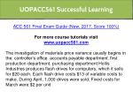 uopacc561 successful learning 2