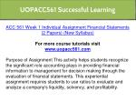uopacc561 successful learning 4