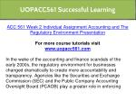 uopacc561 successful learning 6