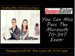 enabling office 365 services exam