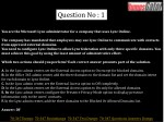 question no 1