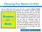 choosing fun games for kids 1