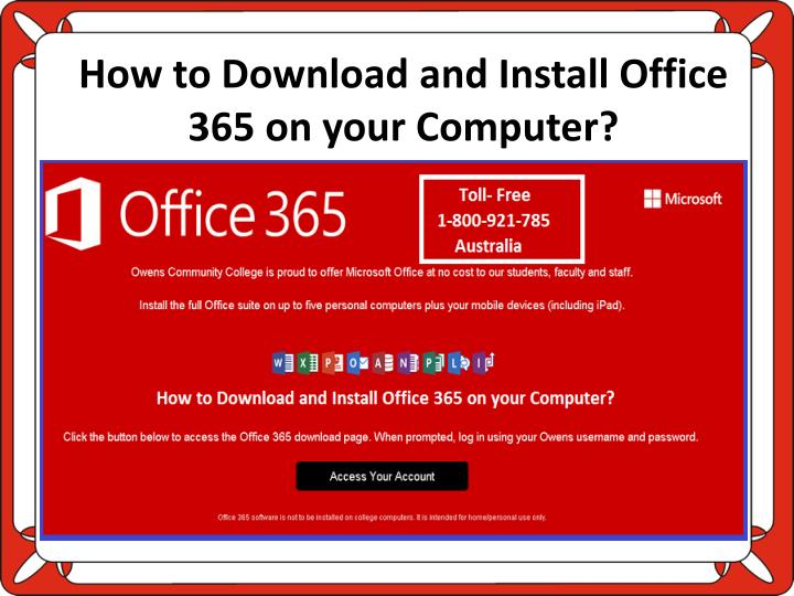 how to download and install office 365 on your computer n.