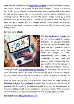 regarding the job portals and application