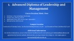 1 advanced diploma of leadership and management