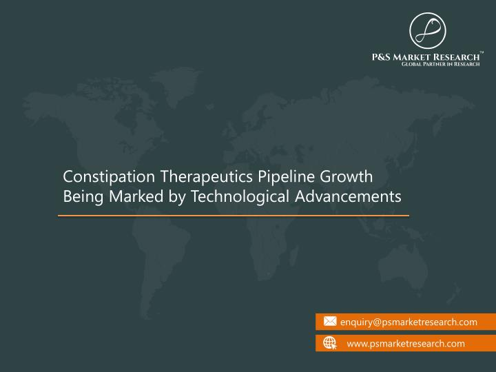 constipation therapeutics pipeline growth being n.