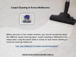 carpet cleaning in across melbourne 1