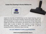 carpet dry cleaning in across melbourne 1