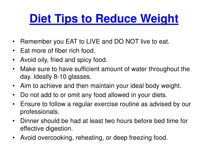 Ppt Diet Tips To Lose Weight Diet Plan For Weight Loss