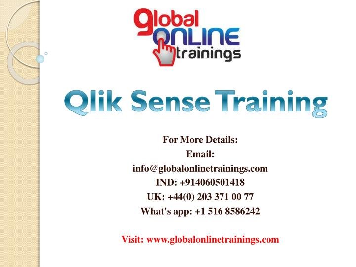 PPT - Qlik Sense training | Qlik Sense Server Hub online