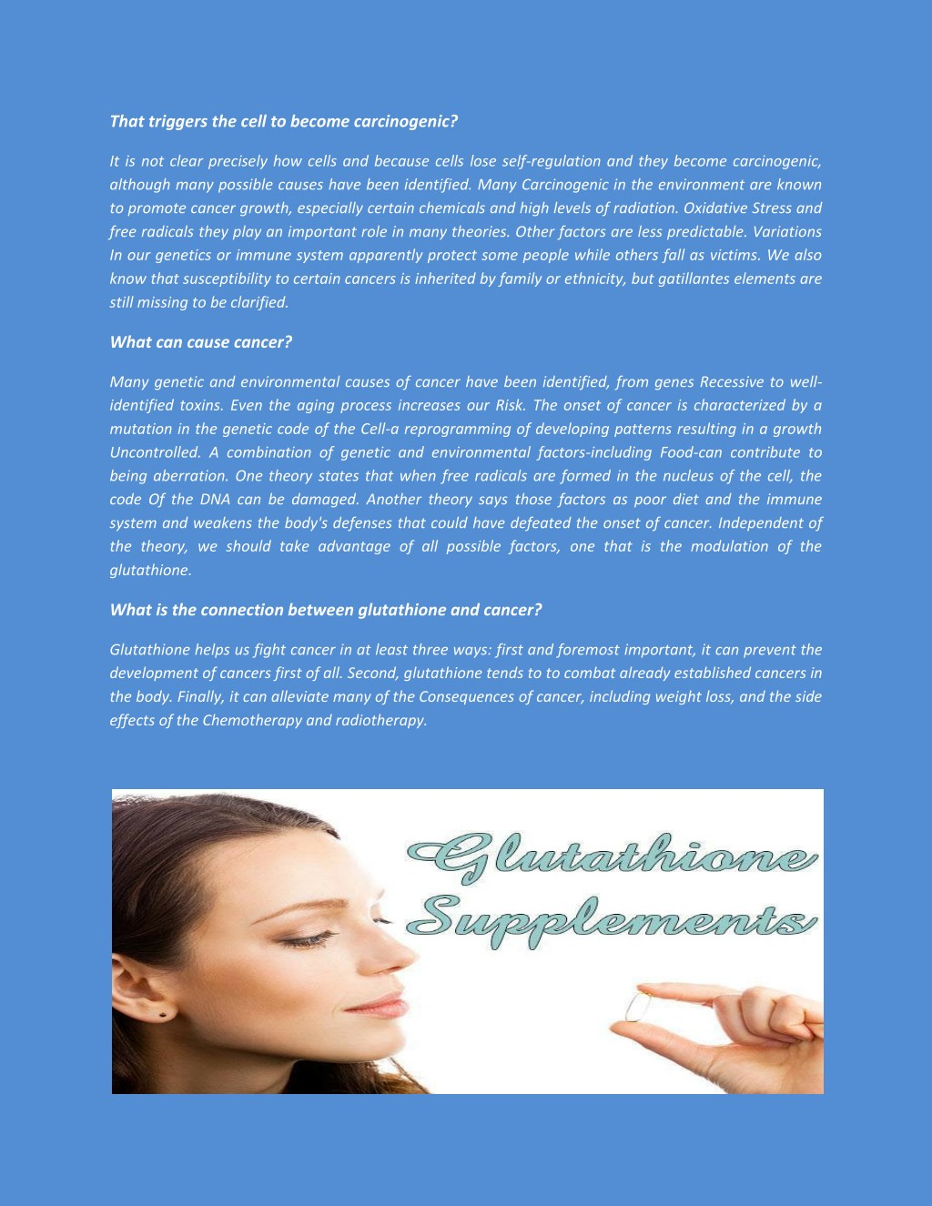 PPT - Glutathione - Their role in cancer and Anticancer