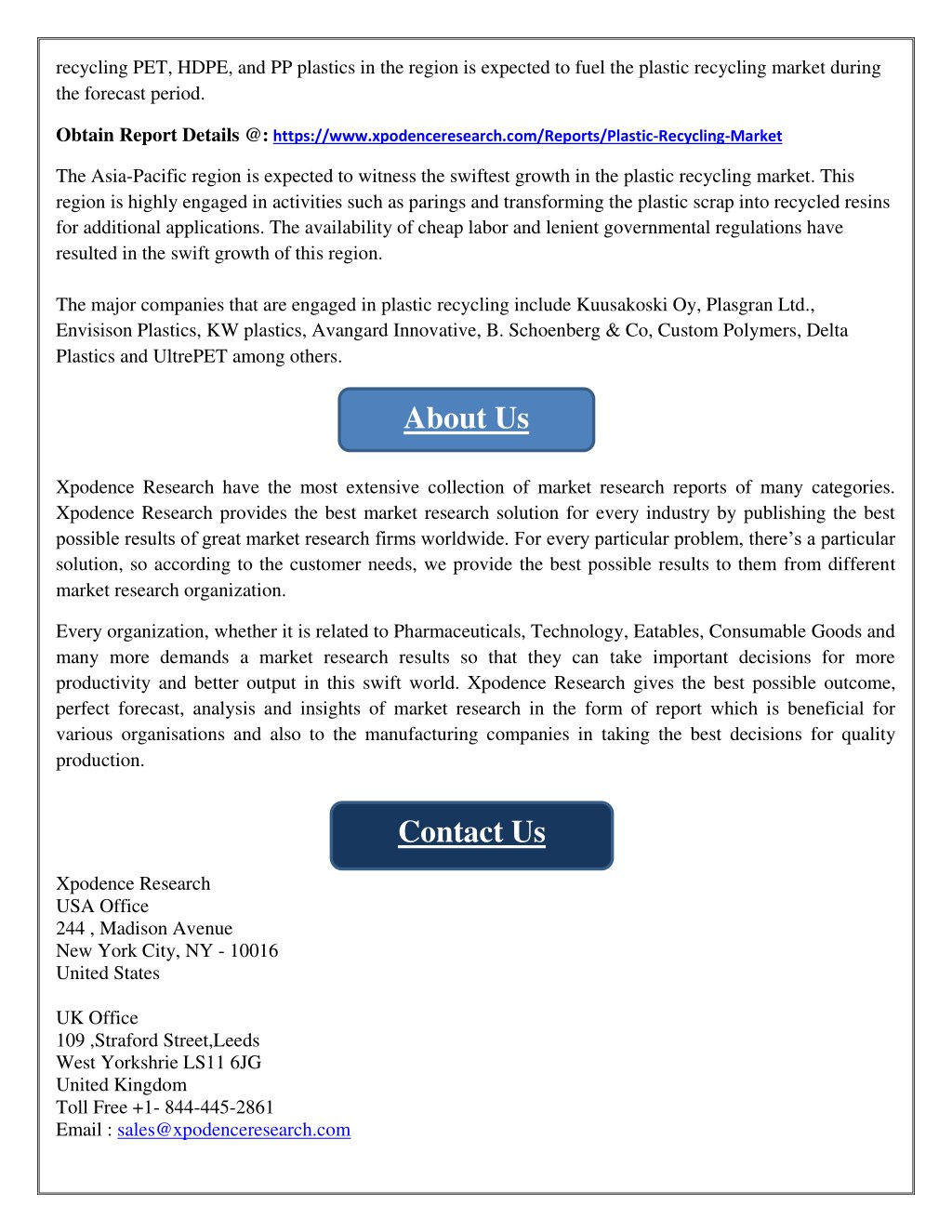 PPT - Global Market Study on Recycled Plastic: Resin Type
