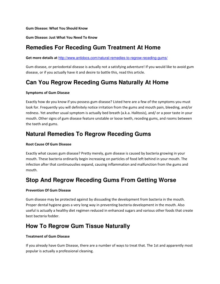 gum disease what you should know n.