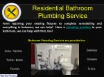residential bathroom plumbing service