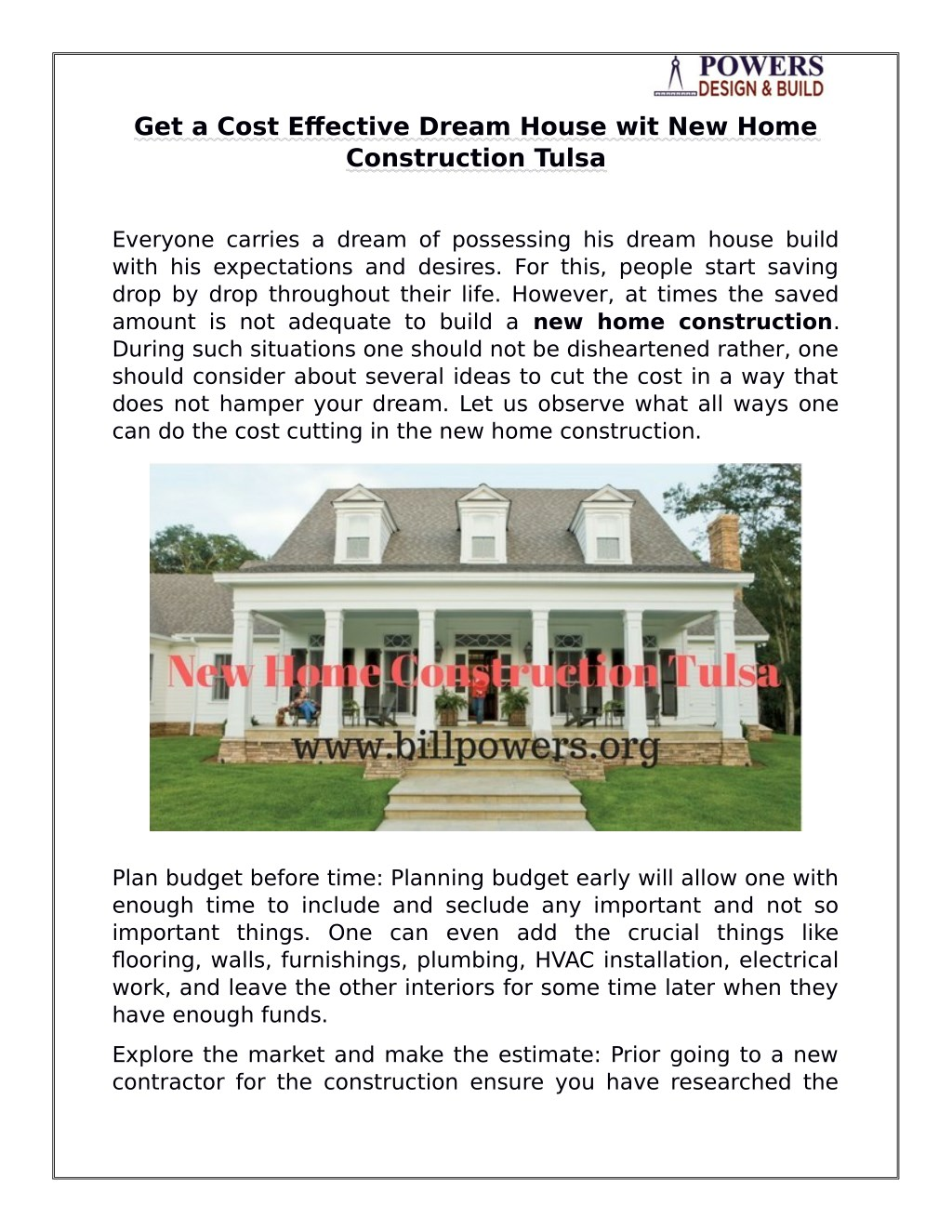 Ppt Get A Cost Effective Dream House Wit New Home Construction Tulsa Powerpoint Presentation Id 7807640