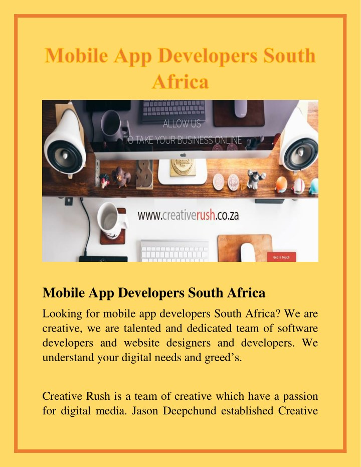 mobile app developers south africa n.