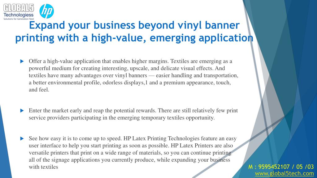 PPT - The HP Latex Printing Solution for textiles   Global 5