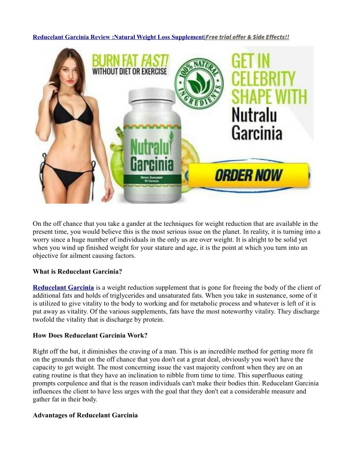 free trial offer side effects n.