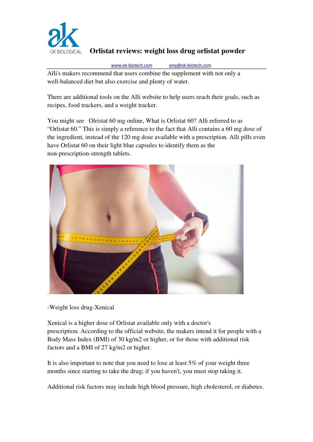 PPT - Orlistat reviews: weight loss drug orlistat powder