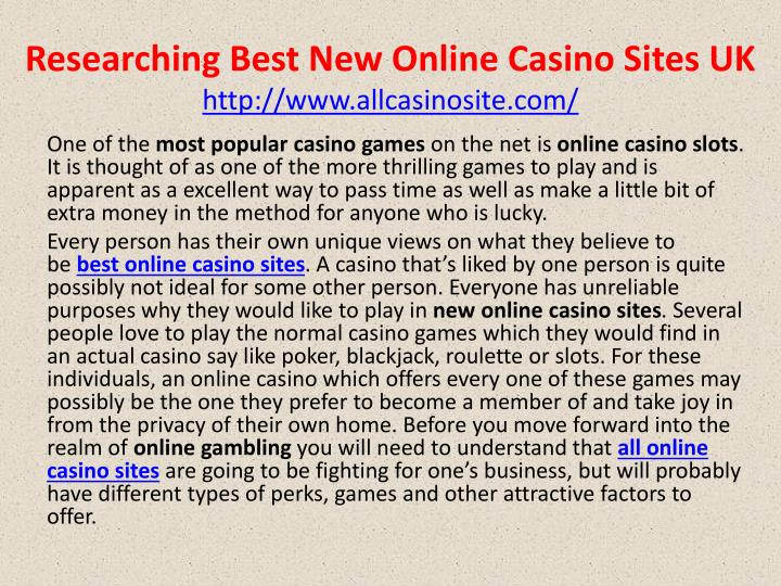 Ppt Researching Best New Online Casino Sites Uk Powerpoint