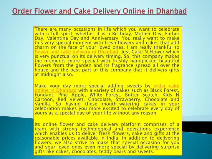 order flower and cake delivery online in dhanbad n.