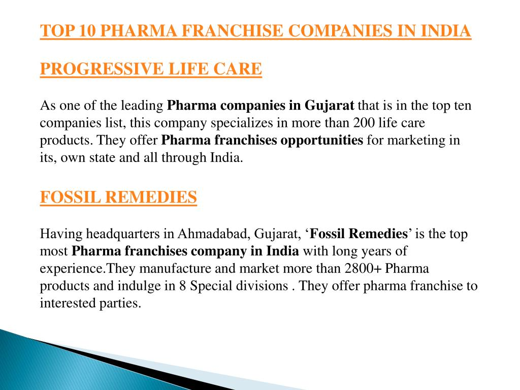 PPT - Top 10 Pharma Franchise Companies in India - 2018 List