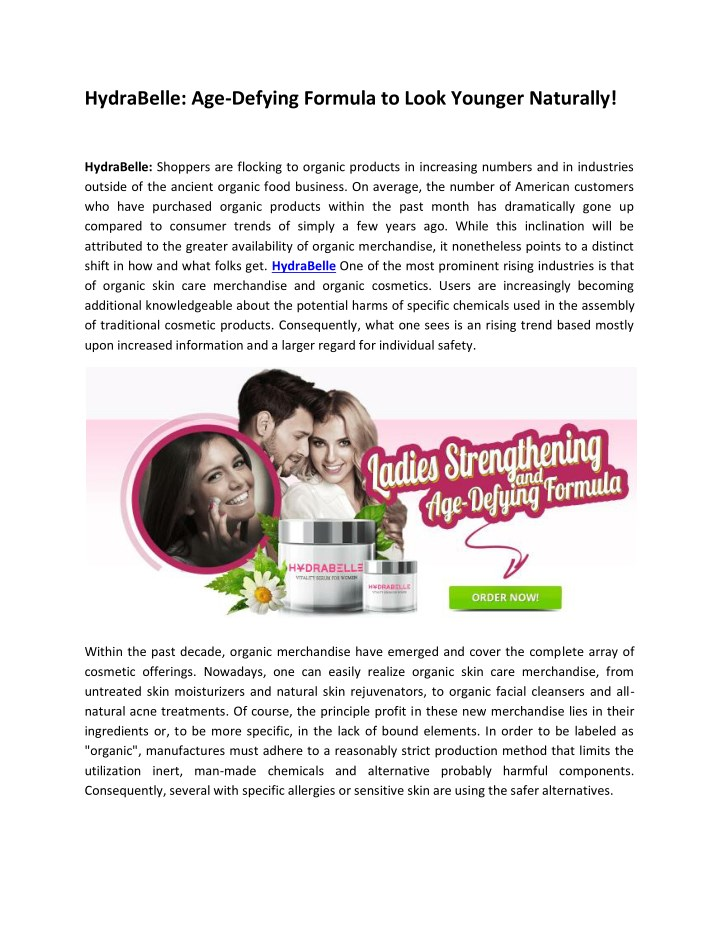 hydrabelle age defying formula to look younger n.
