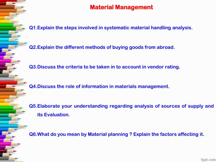 role of material handling