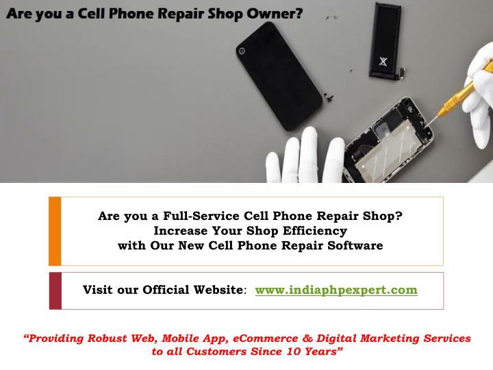 are you a full service cell phone repair shop n.