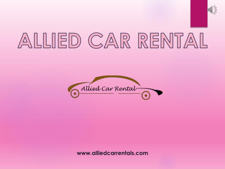 allied car rental n.