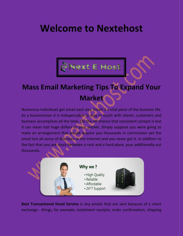 PPT - Mass email marketing services, best email service for business