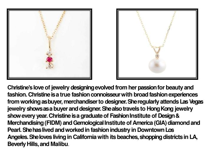 christine s love of jewelry designing evolved n.