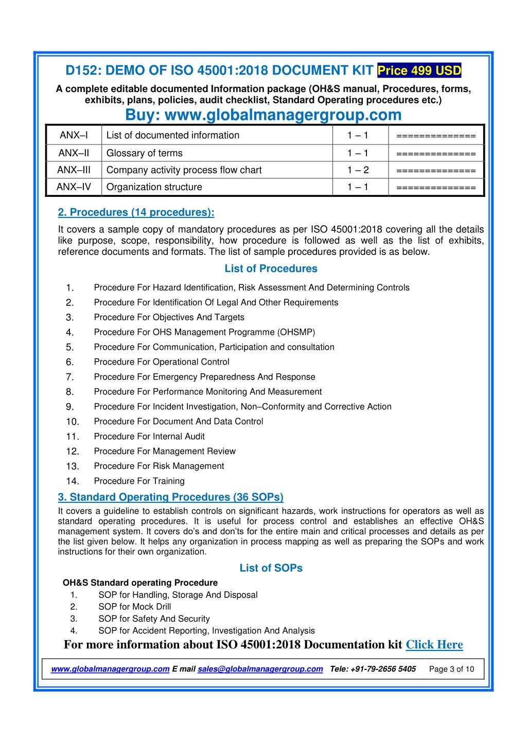 PPT - Required Documents for ISO 45001:2018 Certification